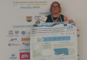 The Water Research Institute of UGR has been present in the 46th IAH Congress, Málaga, the results of the hydrogeological study done in Torre Cardela (Granada)